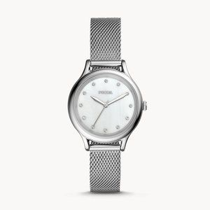 🌼 NWT Fossil watch in silver tones